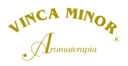 Vinca Minor Logo aromaterapia, aceites esenciales, ayurveda