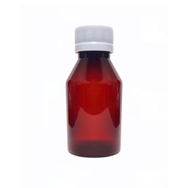 Frasco Plástico Ámbar 100 ml